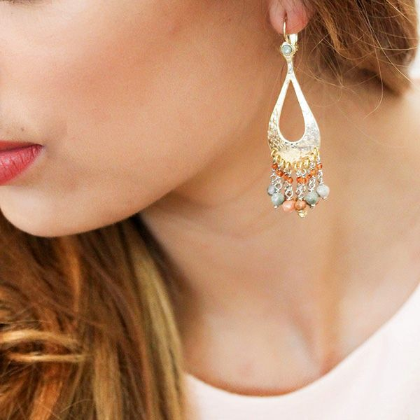 Franck Herval Hiver 2016 Collection Ondine Boucles Oreilles Goutte Multi Pampilles