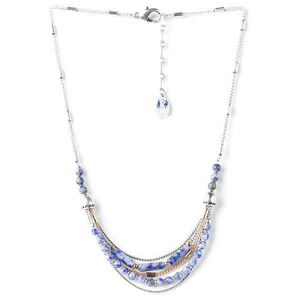 Nature Bijoux Babylone Sodalite Collier Multi Rangs